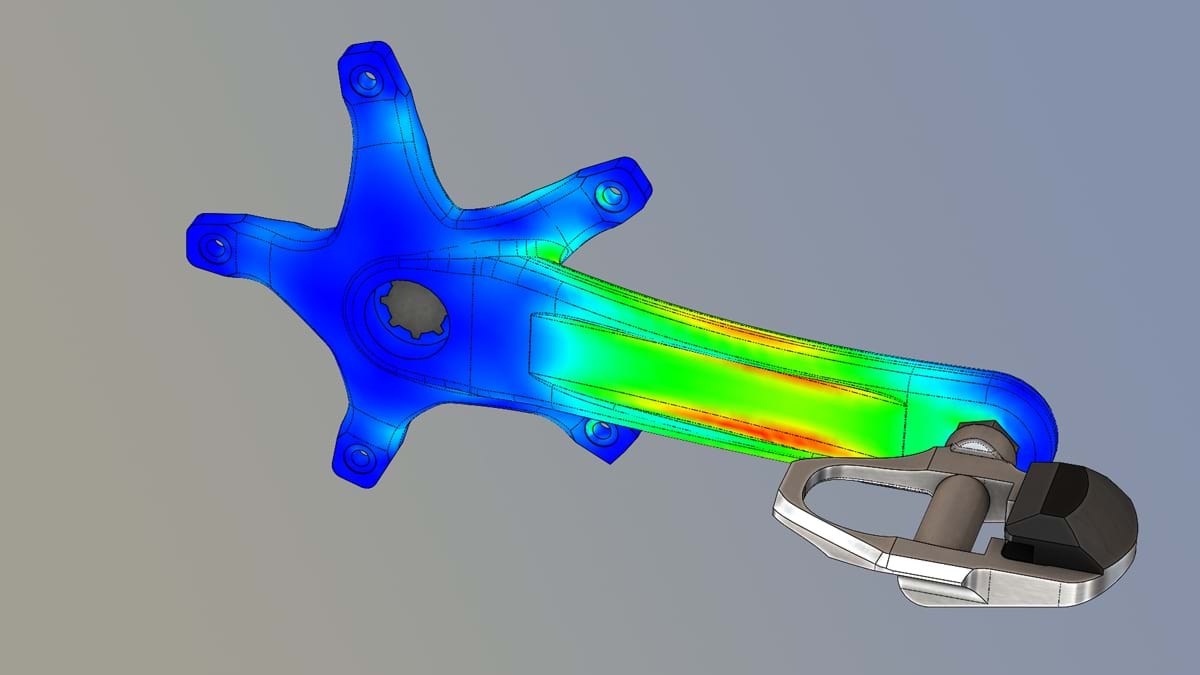 Simulation provides a seamless virtual testing environment that runs inside SOLIDWORKS