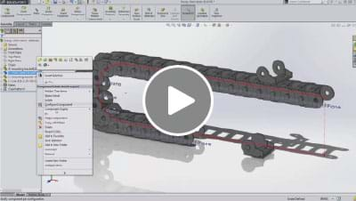 SOLIDWORKS 2015 What's New Video - Chain Component Pattern