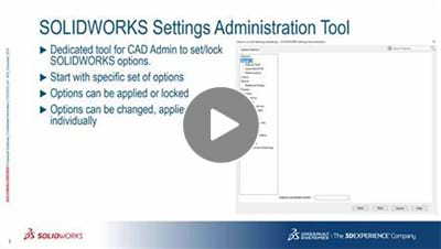 SOLIDWORKS 2017 What's New Video - Options Locking