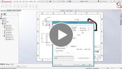 Update Sheet Format - SOLIDWORKS APP