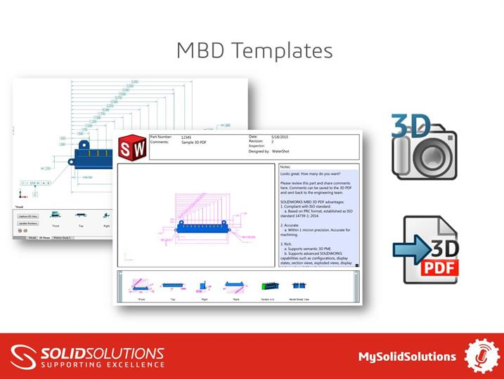 Advanced template creation with SOLIDWORKS MBD