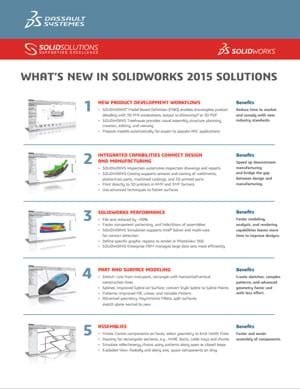 Download Whats New in SOLIDWORKS 2015 Data Sheet